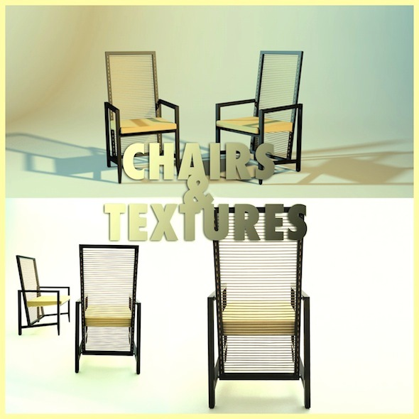 Modern Chair with Materials - 3DOcean Item for Sale