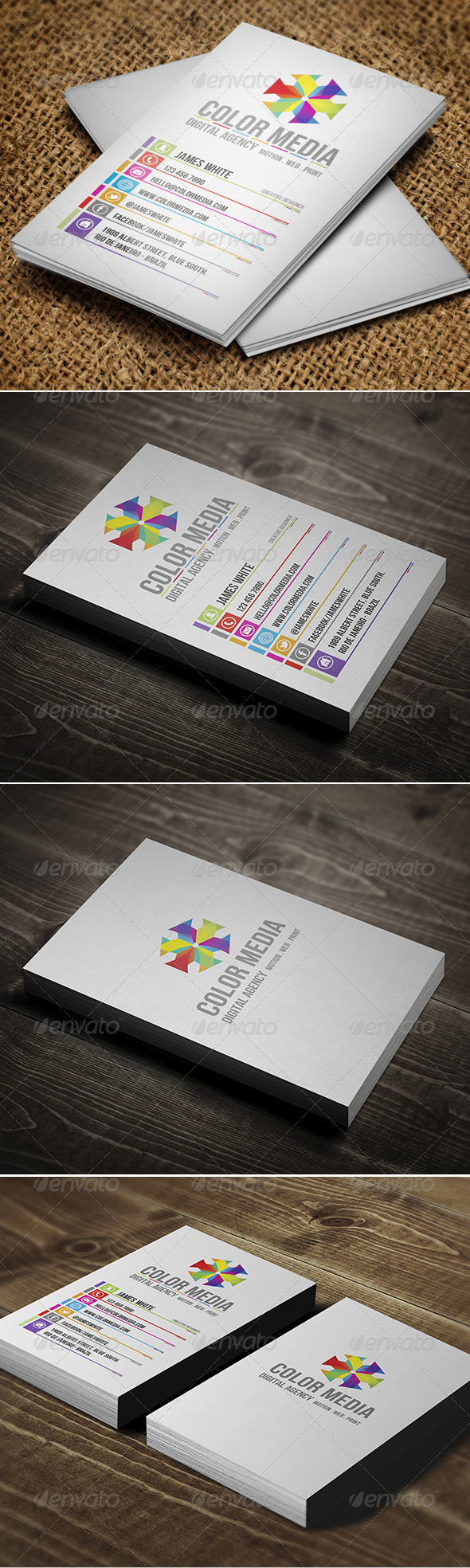GraphicRiver Color Business Card 2760502