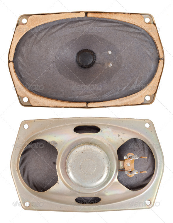 Old speaker - Stock Photo - Images