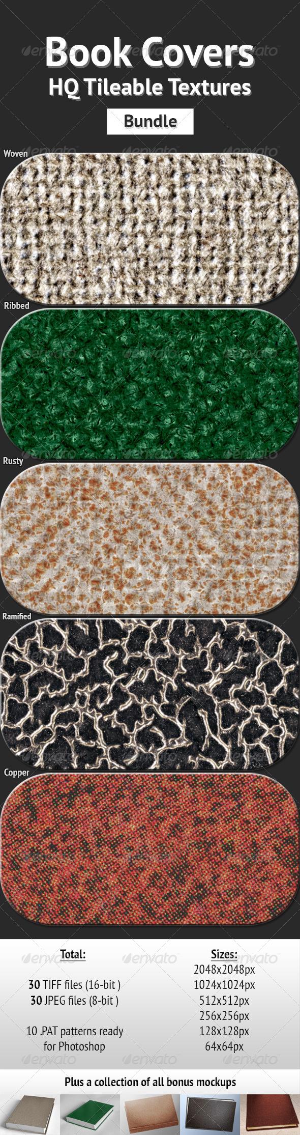 Book Covers - HQ Tileable Textures Bundle - Miscellaneous Textures
