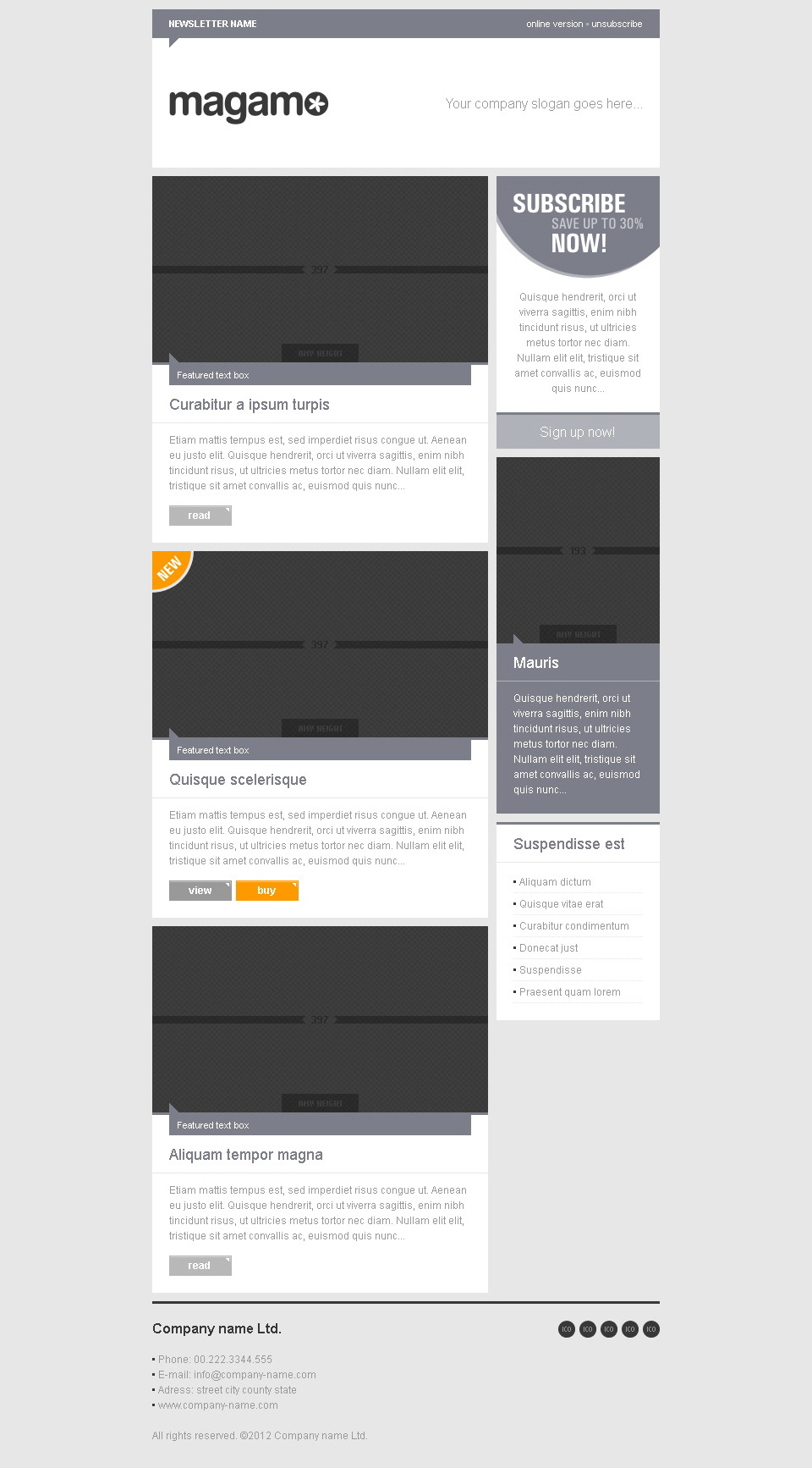 MAGAMO - 21 modular e-mail templates