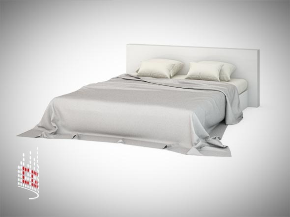 3DOcean Bed with photorealistic cloths 3032449