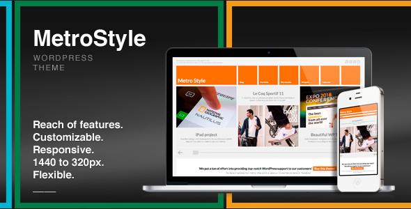 MetroStyle - Theme / Tema / Plantilla Responsive Multiuso para WordPress