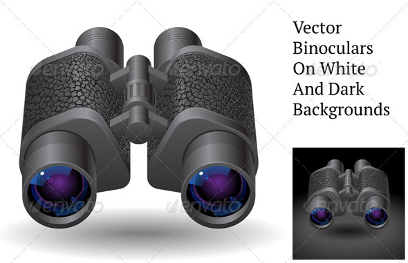 Vector Binoculars - Objects Vectors