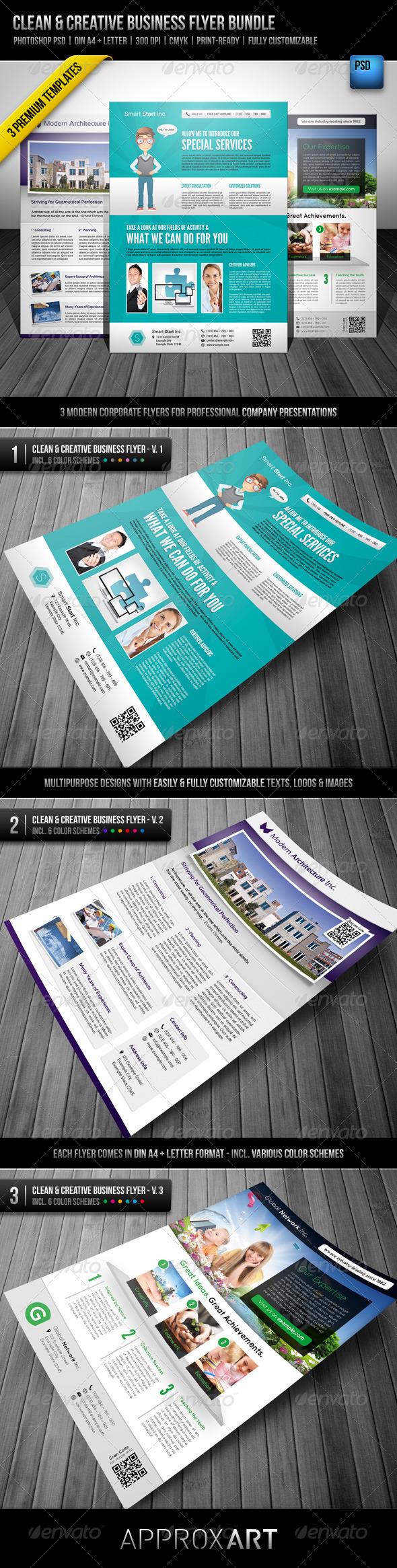 GraphicRiver Clean & Creative Business Flyer Bundle 3033011