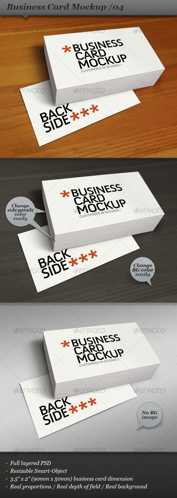 GraphicRiver Business Card Mockup Display Smart Template 04 107861