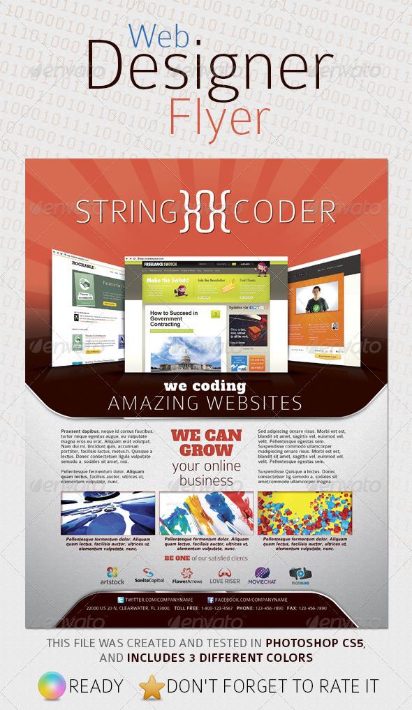 Web Designer Flyer - Corporate Flyers