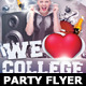 We Love College Party Flyer Template - GraphicRiver Item for Sale