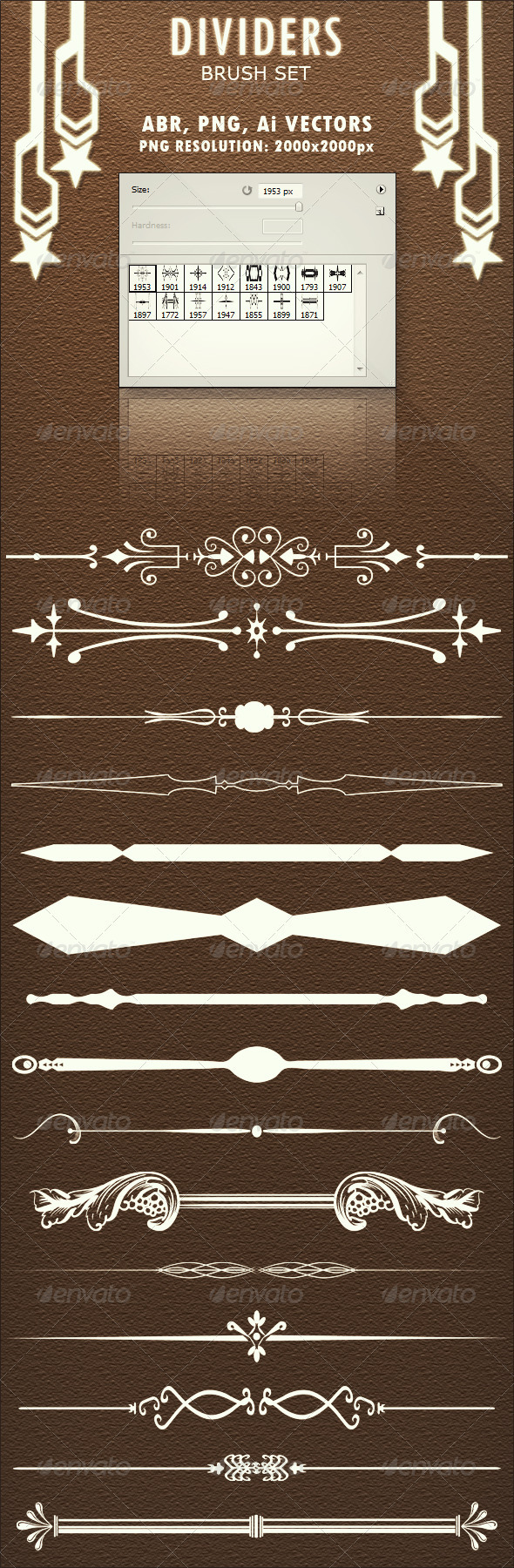 GraphicRiver Dividers Brush Set 3034086