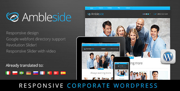 Ambleside - Premium Wordpress Theme