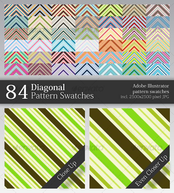 84 Diagonal Pattern Swatches - Miscellaneous Textures / Fills / Patterns