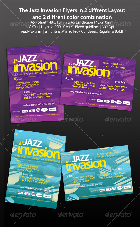 GraphicRiver The Jazz Invasion Flyers 107379