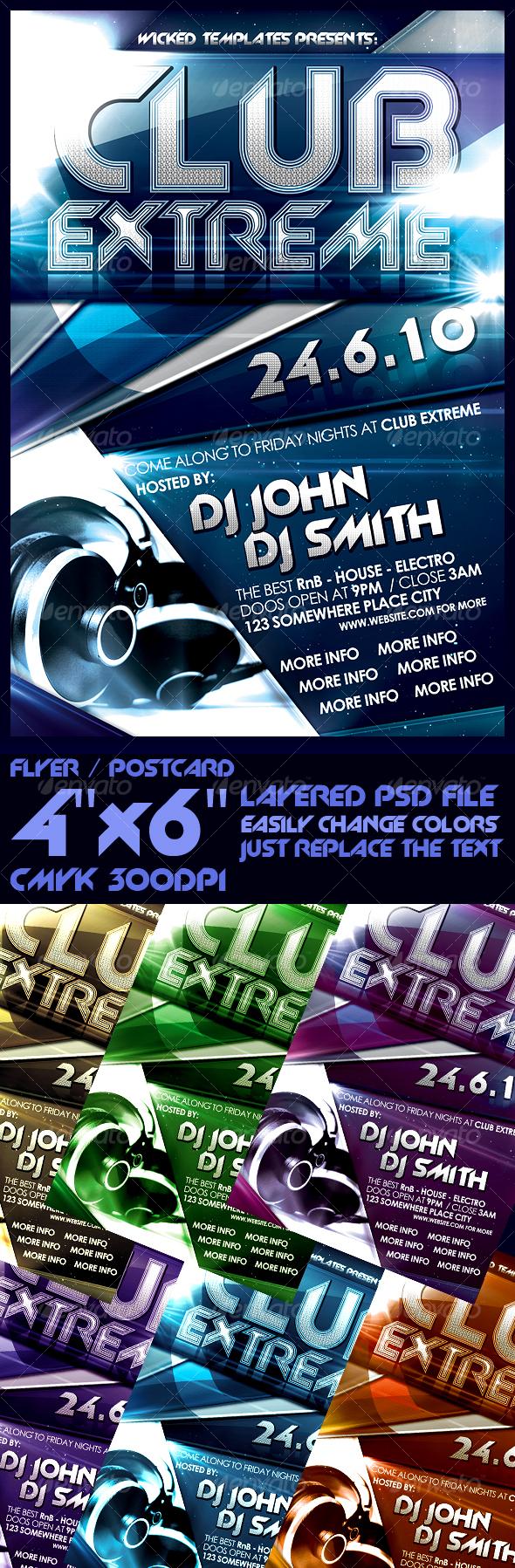 Modern Flyer Template - Clubs & Parties Events