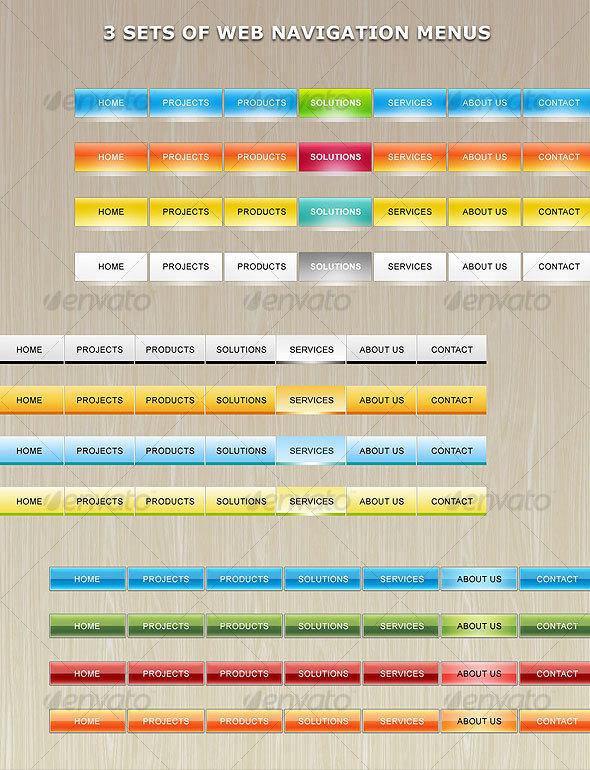 GraphicRiver Web Navigation Menu 107921