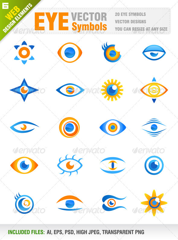 20 Eye Vector Icons
