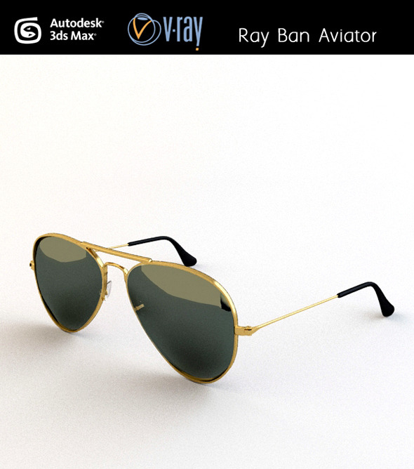 3DOcean Ray ban Aviator 3035673