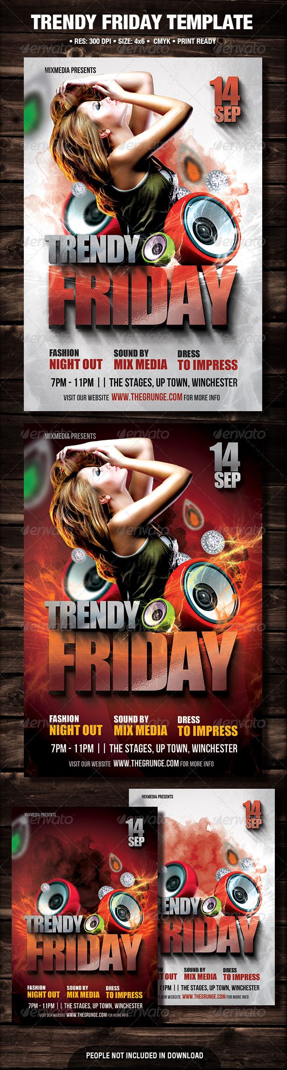 GraphicRiver Trendy Friday Flyer 3035693