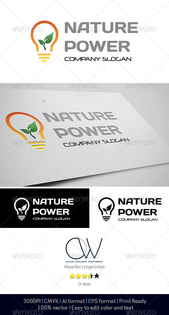Nature Power Logo - Abstract Logo Templates