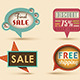 The new retro speech bubbles/signs collection.  - GraphicRiver Item for Sale