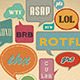 Retro Speech bubbles.  - GraphicRiver Item for Sale