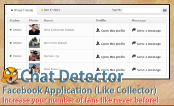 CodeCanyon Chat Detector for Facebook with Like Collector 3037087