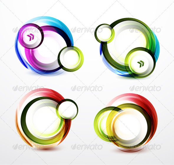 Rainbow Color Swirl Banners