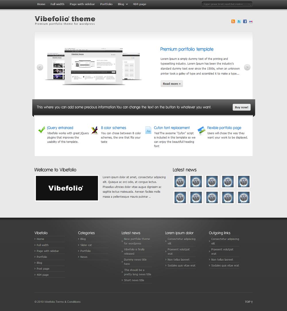 Vibefolio - Homepage
