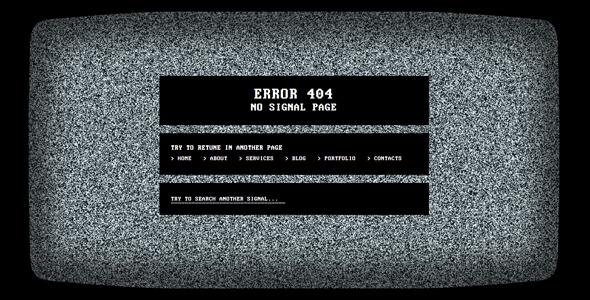 No Signal 404 Error Page