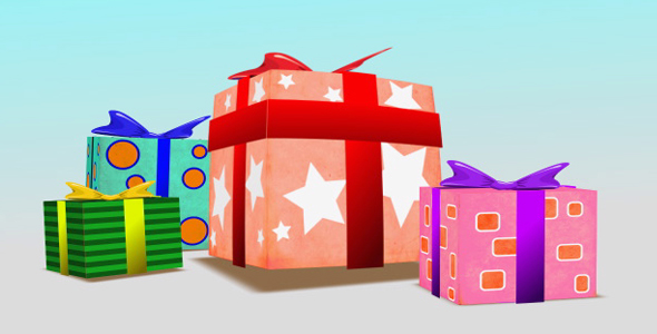 After Effects Project - VideoHive Present Box Birthday 108030