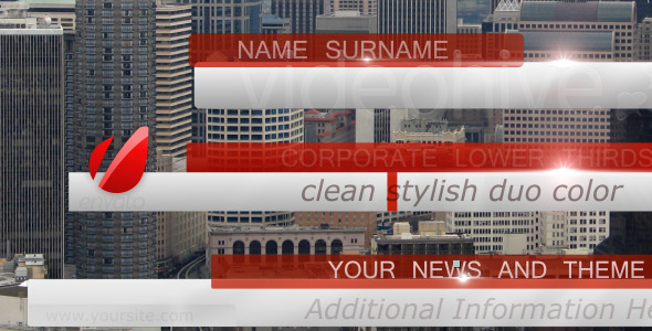 After Effects Project - VideoHive Bussines News Lower Third Pack full HD 31 ...