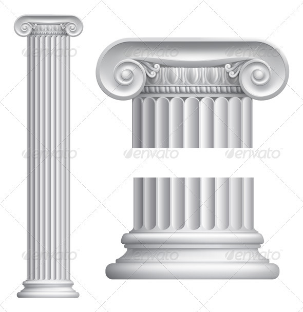 Ionic column - Objects Vectors