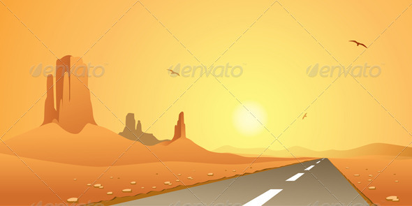 Desert Road - Landscapes Nature