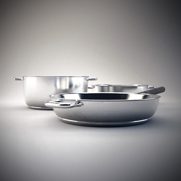 3DOcean 2 Photorealistic Cooking Pots 3039435