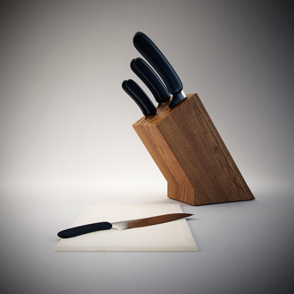 3DOcean Knife Blocks & Sets 3039558