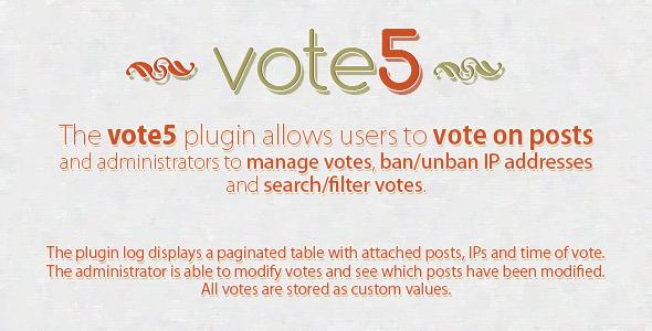 CodeCanyon vote5 Advanced WordPress Voting Plugin 3039649
