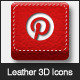 Leather Stitched Social Icons