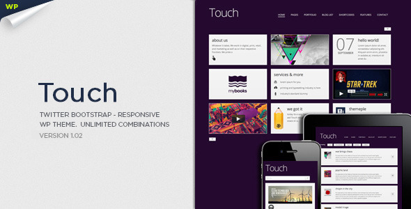 Touch - Theme / Tema / Plantilla Responsive & Bootstrap para WordPress
