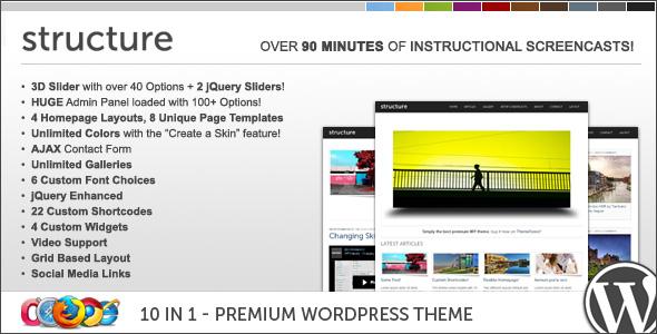 WP Structure 10 in 1 Premium Wordpress Theme