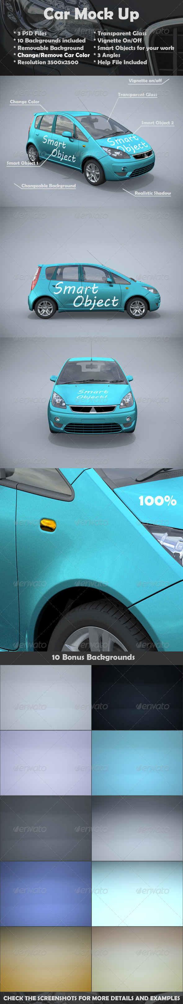 Car Mock-Up - Vehicle Wraps Print