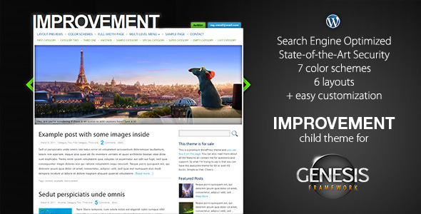 Improvement wordpress theme download