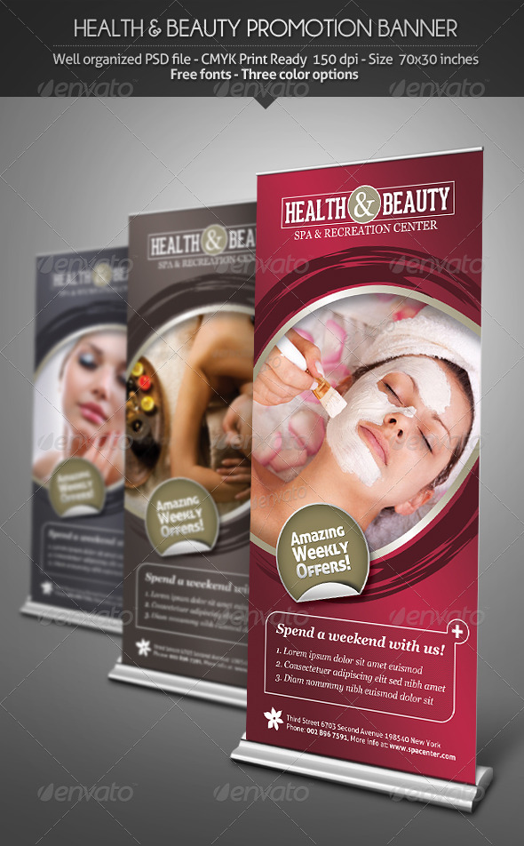 GraphicRiver Health & Beauty Promotion Banner 3041226