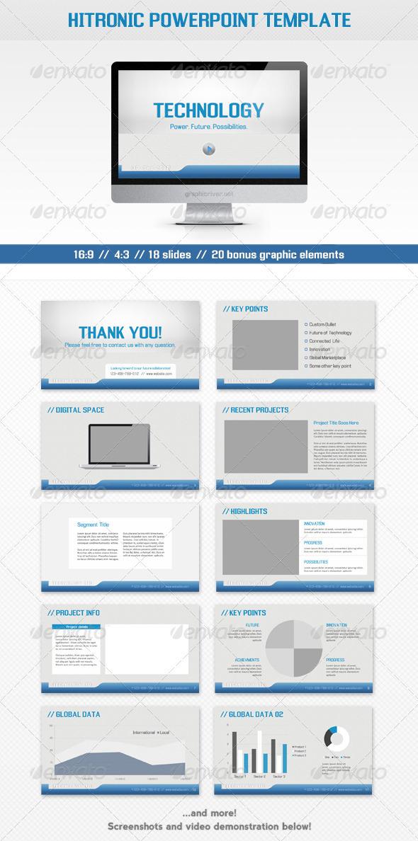 Hitronic PowerPoint Template - Powerpoint Templates Presentation Templates