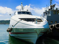 Large motor yacht  moored in Marina - PhotoDune Item for Sale