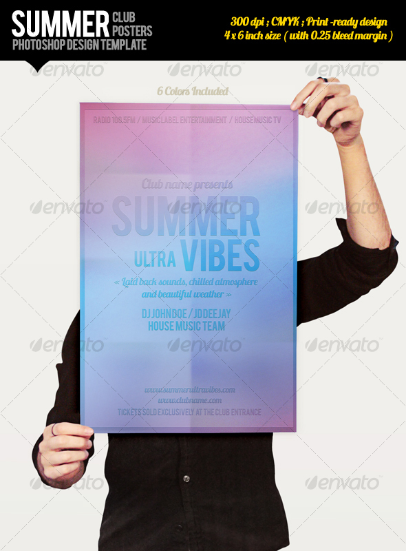 Summer Club Posters - Clubs & Parties Events
