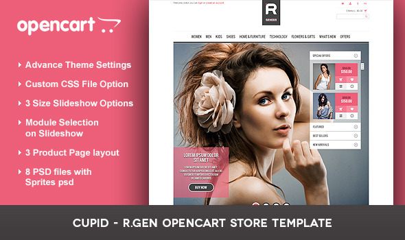 ThemeForest Cupid R.Gen OpenCart Store Template 3042304