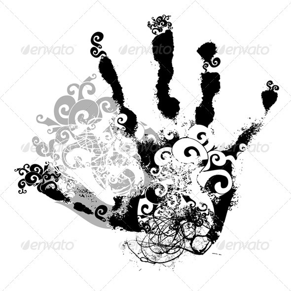 GraphicRiver Decorative handprint 3042585