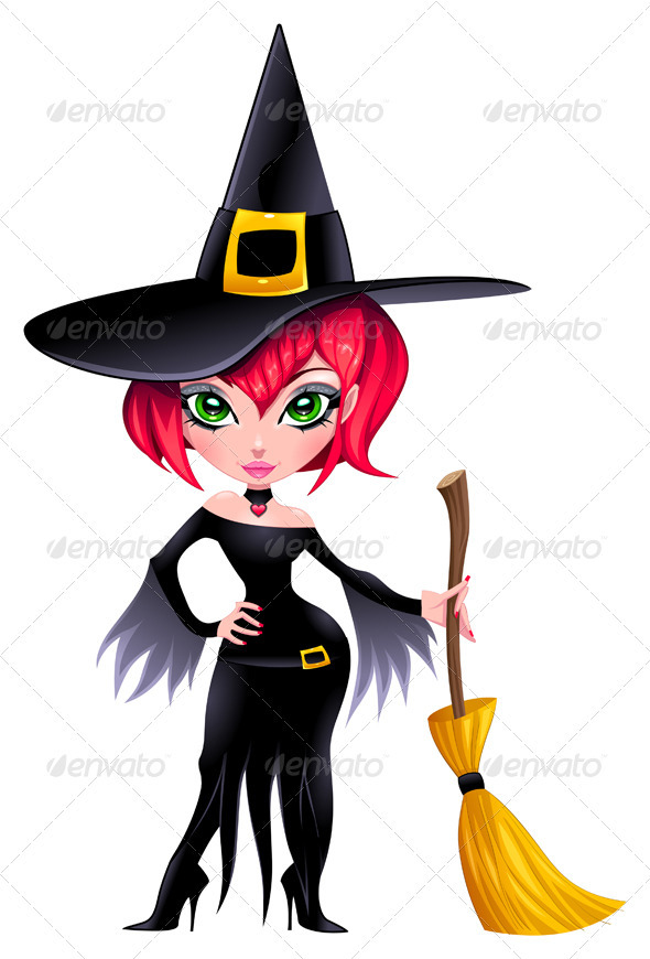 Funny witch. - People Characters