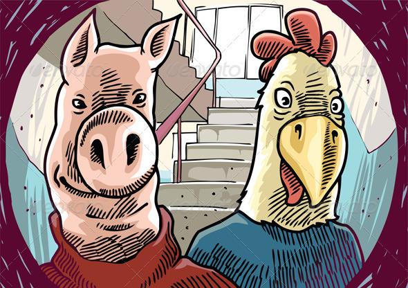 Strange Visitors Behind the Door - Animals Characters