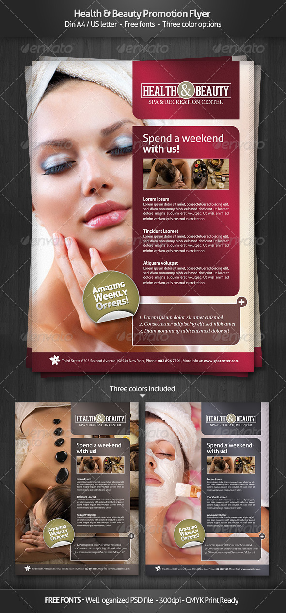 GraphicRiver Health & Beauty Promotion Flyer 3042729