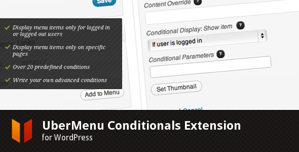 CodeCanyon UberMenu Conditionals Extension 3043025